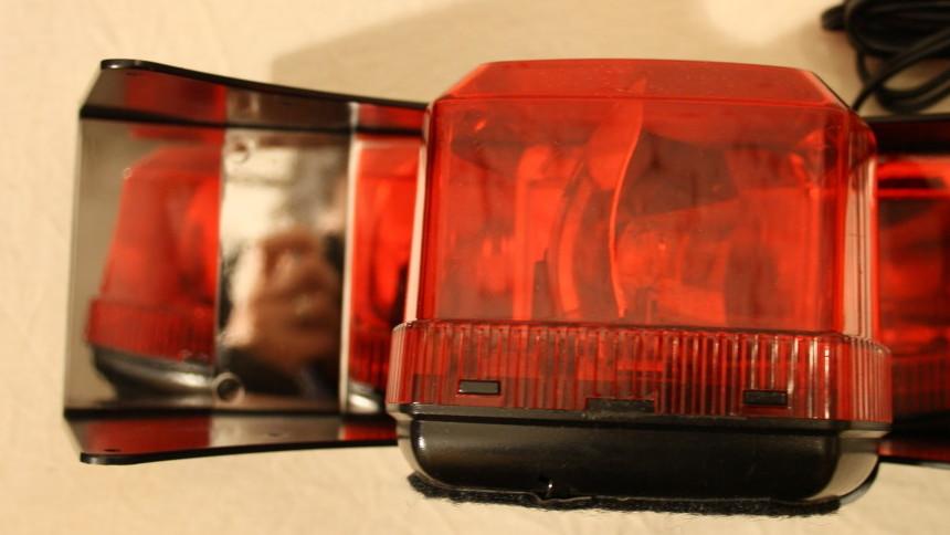 Polizeilichter Armaturenbrett