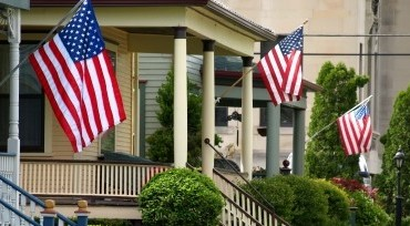 US Flagge für Haus / Gebaüde