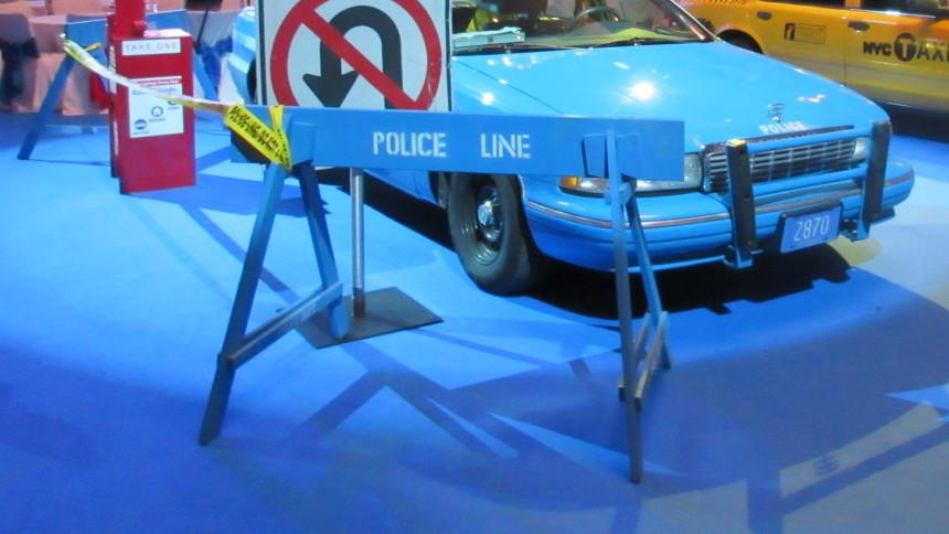 Polizeiabsperrungen