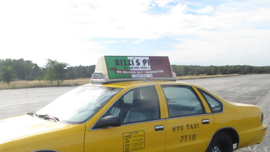 Dachwerbung NYC Taxi