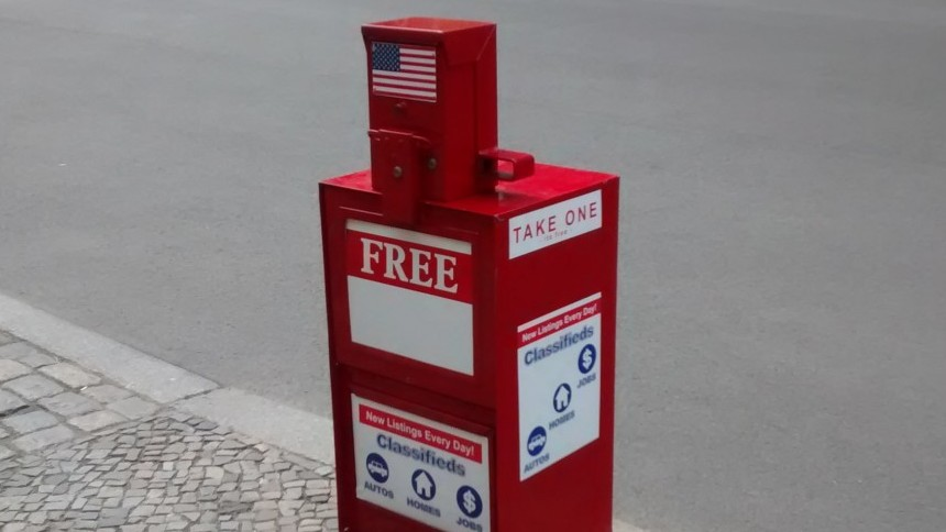 US Zeitungsautomat